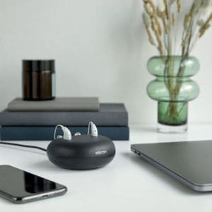 Charger on table